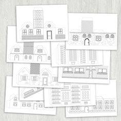 Домики-раскраски | print