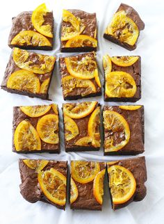 dark chocolate and orange brownies