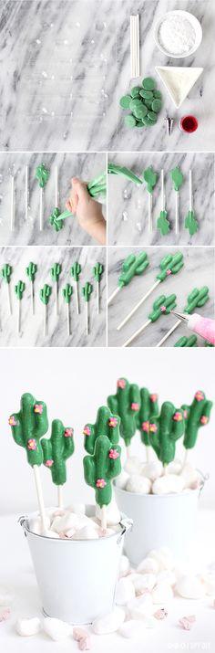 » DIY SWEETS   Chocolate Cactus Lollipop
