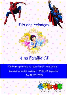Flyer dia das crianças - Família CJ