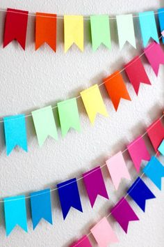 diversity flag banner for common area OR quote banner for program Homemade Birthday Decorations, Paper Party Decorations, Diy Birthday Banner, Happy Birthday Signs, Rainbow Decorations, Diy Banner, Birthday Gifts, Deco Bobo, Decoration Creche