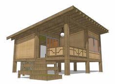 Eplans Contemporary-Modern House Plan - Modern One Bedroom Cabin - 456 Square Feet and 1 Bedroom from Eplans - House Plan Code HWEPL75242