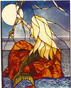 Image result for Free Mermaid Patterns Stained Glass Window