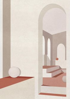 Charlotte Taylor – INAG | I Need A Guide Charlotte Taylor, Gallery Wall Layout, Illustration Sketches, Watercolor Illustration, Map Art, Architecture Drawing Sketchbooks, Architecture Illustrations, Mid Century Art, Bauhaus Interior