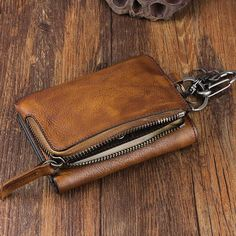 Overview: Design: Handmade Leather Mens Chain Biker Wallet Cool Leather Wallet Trifold Short WalletsIn Stock: Ready to Ship (2-4 days)Include: Only WalletCusto