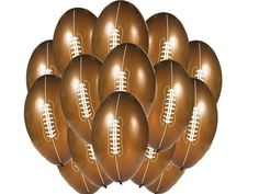 "FOOTBALL Shaped 9"" Latex BALLOON [15ct] Set Birthday Party Supplies Decoration"