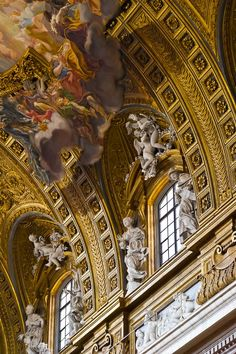 #church  #interior  #design  #baroque  #ceiling  #rome  #gesu