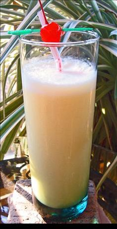 Caribbean Screwdriver- 1oz Peach Schnapps, 1oz Creme de Banane, 2oz Coconut Rum, 4oz orange juice, 2 oz Pineapple juice, 1 oz cream