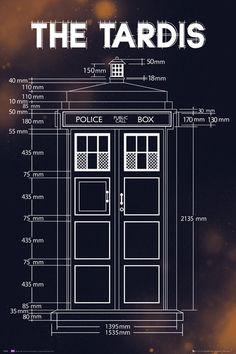 Doctor Who - Tardis Plans - Plakát, Obraz na Posters.cz