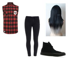 """""""<3"""" by bluepeacesign on Polyvore featuring Paige Denim, Converse and Mikey"""