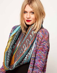 colorful snood #asos #greenmonday 20% off select brands #sale