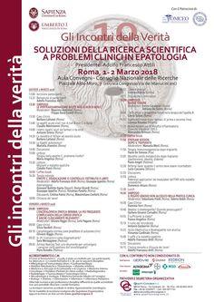 ISCRIZIONE GLI INCONTRI DELLA VERITA' 10 – SOLUZIONI DELLA RICERCA SCIENTIFICA A PROBLEMI CLINICI IN EPATOLOGIA