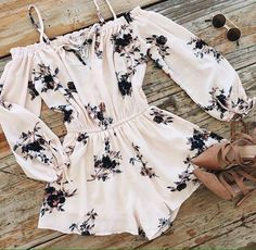 Cute outfit #floral #romper