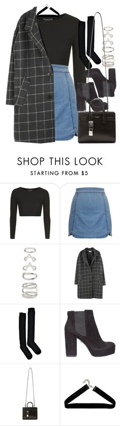 """Style #11565"" by vany-alvarado ❤ liked on Polyvore featuring Topshop, Forever 21, Boohoo, KG Kurt Geiger and Yves Saint Laurent"