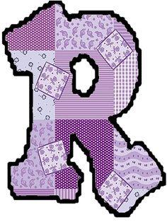 arte rabiscos e letras: Letras do alfabeto - Patchwork