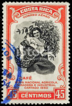 coffee on postage stamps - Costa Rica