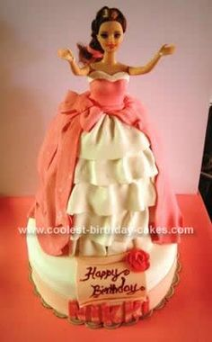 Homemade Princess Barbie Doll Cake... This website is the Pinterest of princess cake ideas