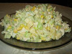 Sałatka z selera naciowego Polish Recipes, Mozzarella, Salad Recipes, Potato Salad, Tapas, Cabbage, Food And Drink, Cooking Recipes, Snacks