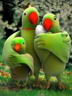 Happy Family Birds.  More image : http://bulkpinterestaccounts.com/buy-twitter-accounts/