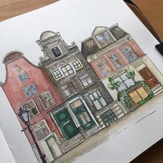 For today- Amsterdam! I'm always amazed of the chaos in Amsterdam houses. I guess it makes this  city so beautiful ❤️ Inspiration @rufus_airlines . Day 177 #365daysofdrawing  #drawing #drawingeveryday #sketching #sketchingeveryday #quicksketch #urbansketch  #amsterdam #beautifulhouses #watercolor #waterproofink #tsusketch #tsusketchaquastart #sketchbook