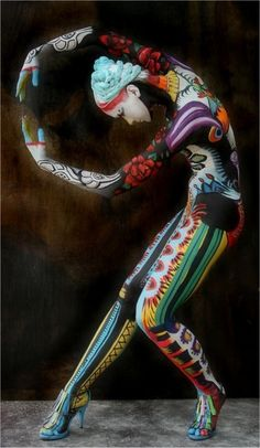 colorful body art. Bella Beauty College: Be Bold, Brilliant, Beautiful! www.BellaBeautyCollege.com
