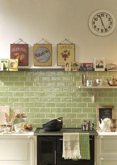 Kuchyňské obklady 10x30, lesklý povrch, zestařený retro design | SIKO