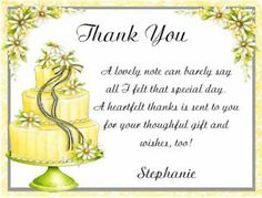 Thank You Notes For Bridal Shower Gifts Wording : about Thank You verses on Pinterest Thank you verses, Thank you ...