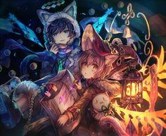 Twin Cats by sshigaraki I drew these two for an 18 Soramafu collaboration.