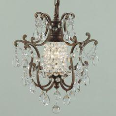 Verdi One Light Chandelier traditional chandeliers  Little Chandelier for Powder room