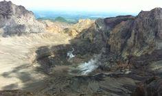kawah gunung kelud pasca erupsi