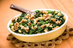 Fruity, nutty spinach