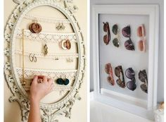 diy storage jewelry.... cute