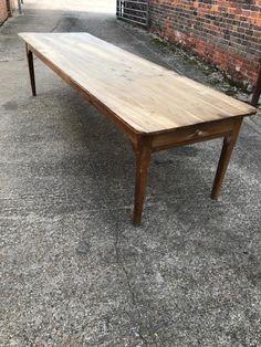 3m Chestnut Antique Large Farmhouse Table