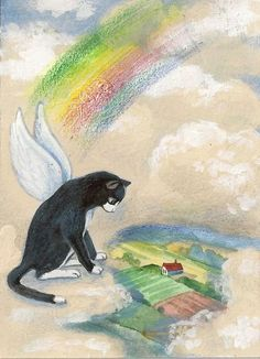 This piece will be a great addition to any art collection. Souvenir Animal, Crazy Cat Lady, Crazy Cats, I Love Cats, Cute Cats, Pet Loss Quotes, Pet Grief, Cat Heaven, Pet Remembrance