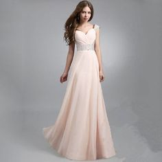 Pink new fashion women dress casual summer dress long bohemian wedding dress party solid evening dress Evening Dresses With Sleeves, Chiffon Evening Dresses, Formal Evening Dresses, Chiffon Dress, Evening Gowns, Evening Party, Sequin Dress, Dress Skirt, Prom Party Dresses