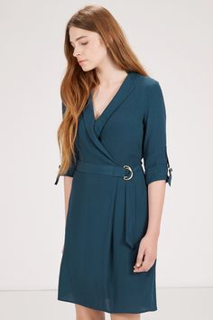 D RING WRAP DRESS