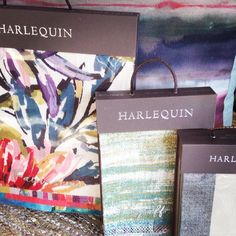 Look what has arrived! The lovely new collection from @harlequinfw I might have finally found the curtains for my living room #finally #stripeinteriors #stockist
