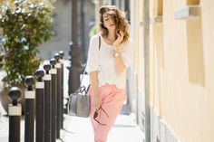 spa day outfit | PANTALONI ROSA & ESPADRILLAS BORCHIATE – OUTFIT OF THE DAY