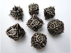 Thorn Dice Set with Decader nerd stuff, sell product, gear, buy, dice set, shapeway, game, 3d printing, thorn dice