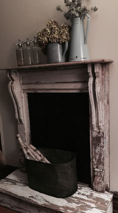 Shop for handmade, vintage, custom, and unique gifts for everyone – Farmhouse Fireplace Mantels City Farmhouse, Cabin Fireplace, Vintage, Fireplace Mantels, Entryway Tables, Farmhouse Fireplace, Fireplace Mantel Decor, Primitive Decorating, Fireplace