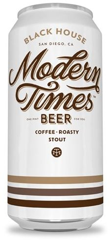 Modern Times (San Diego) Black House is an oatmeal coffee stout bursting with coffee aroma and flavor.