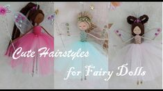 Ponytail Hairstyles, Ponytail Styles, Cute Hairstyles, Rope Crafts, Felt Crafts, Diy Crafts, Christmas Fairy, Christmas Crafts, Xmas
