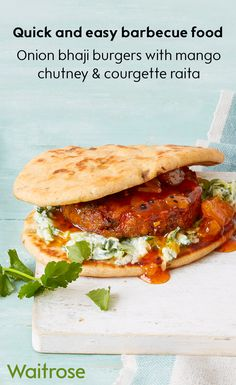 Barbecue season doesn't have to be boring if you don't eat meat. Our vegetarian onion bhaji burgers are just as delicious as beef! Serve between Peshwari naans for an Indian-inspired BBQ dish. Top with a refreshing courgette raita and sweet onion chutney. See the full recipe on the Waitrose website.