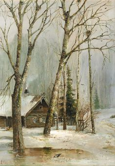 Cottage in the Woods Russian Painting, Russian Art, Cottage In The Woods, Still Image, Watercolor Paintings, Oil Paintings, Heritage Image, 18th Century, Medieval
