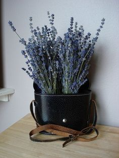 binocular case with lavender - what a great idea!