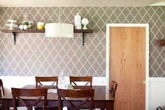 A clever way to make removable wall paper.