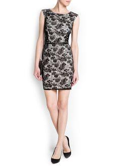 Belt lace dress - Mango
