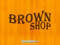 GraphicRiders | Retro style – Brown shop (free photoshop layer style, text effect) #graphicriders #retro #freebies #layerstyle #texteffect
