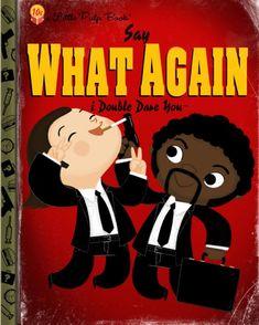 PULP FICTION | fan art | Pulp Fiction as a Little Golden Book