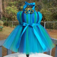 Flower girl dresses Peacock Tutu Dress by Atutudes - Display Piece for the 63rd Annual Primetime Emmy Awards Gifting Suite and as seen on Etsylush via Etsy